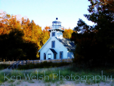 """""""Old Mission Lighthouse""""    © Copyright Ken Welsh"""