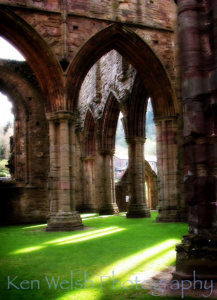 """Light on the Lawn""<br /> <br /> Sacred Places of Earth:  Tintern Abbey   <br /> © Copyright Ken Welsh"