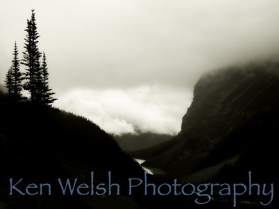 """The Clouds Below""  Sacred Places of Earth:  Trail to Tea House and Plane of Six Glaciers   © Copyright Ken Welsh"