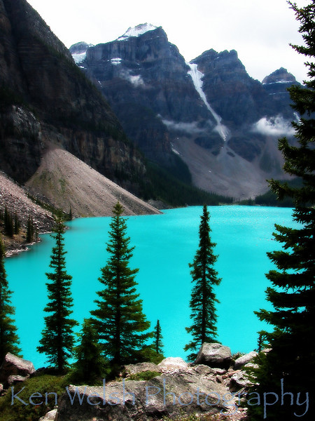 """Turquoise""<br /> <br /> Moraine Lake (Valley of the Ten Peaks) <br />  © Copyright Ken Welsh"