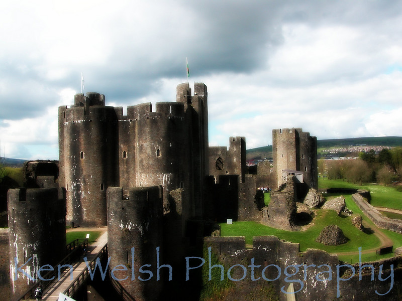 """Caerphilly Castle""   <br /> <br /> © Copyright Ken Welsh"