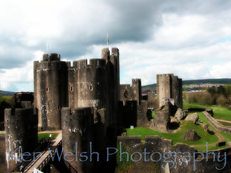 """Caerphilly Castle""   <br /> <br /> © Copyright Ken Welsh"
