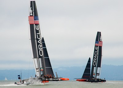 Oracle Team USA Practice Race Starts