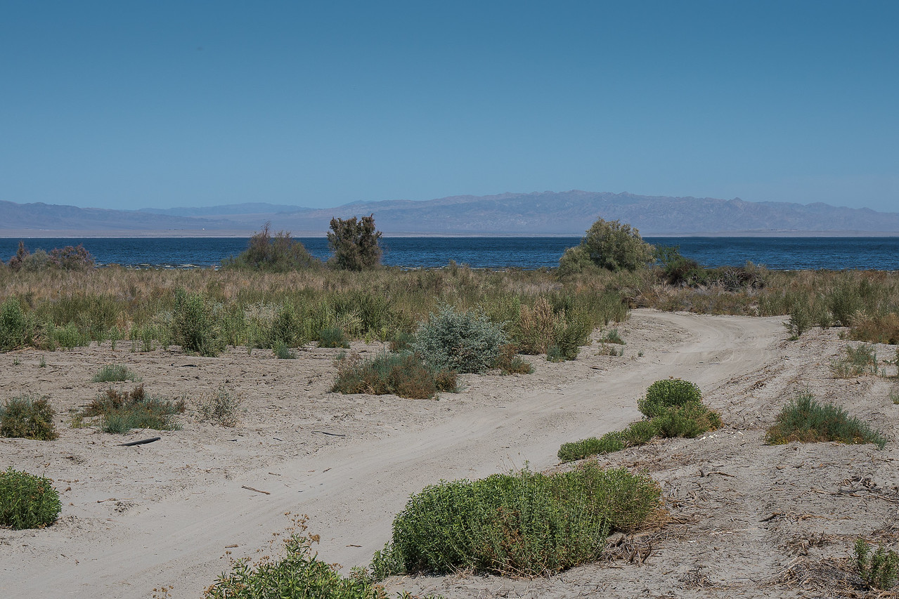 Salton Sea with the Chocolate Mountains in the distance