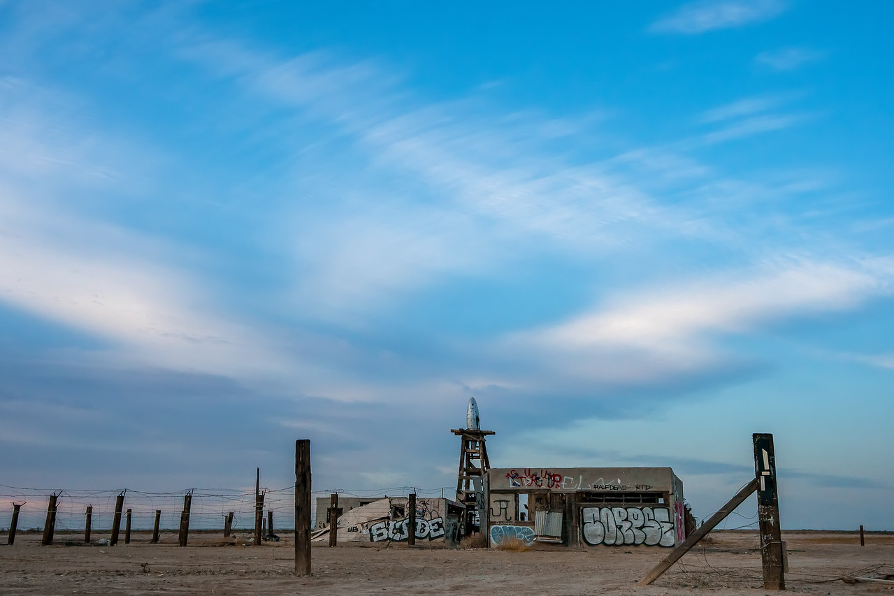 Old building east of the Salton Sea