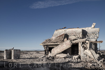 Remains of abandoned K-Bar factory in Brawley, California