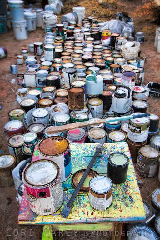 Leonard Knight's paint cans, Salvation Mountain