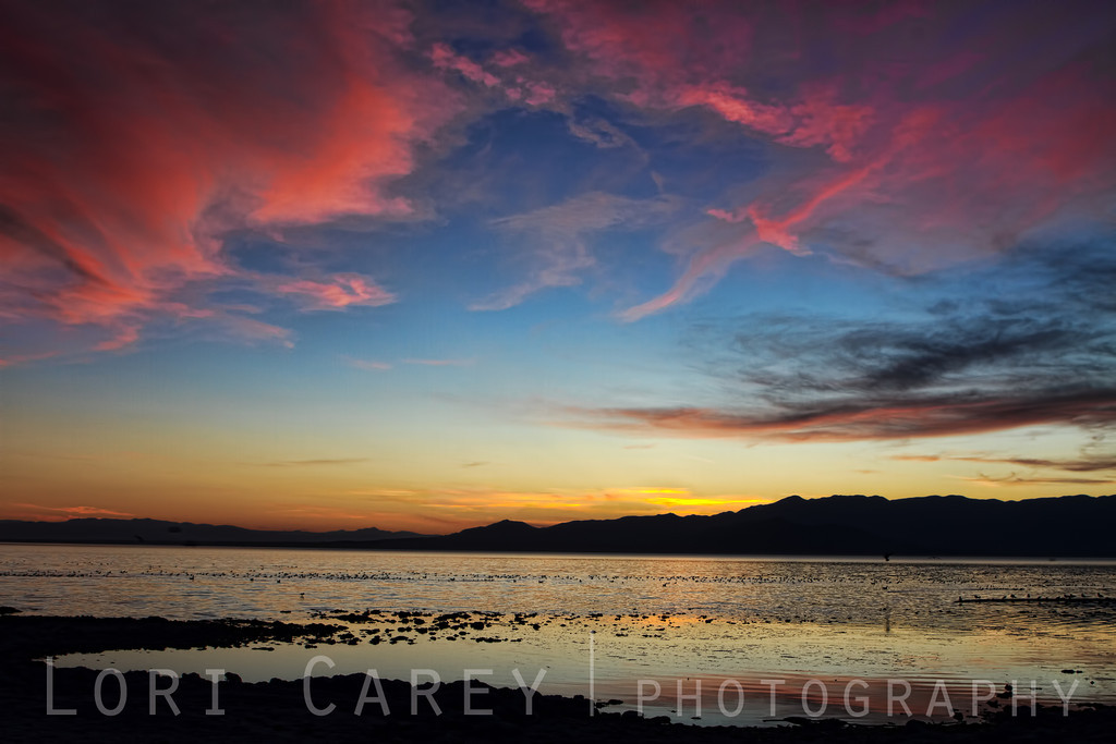 Sunset at Salt Creek Beach, Salton Sea