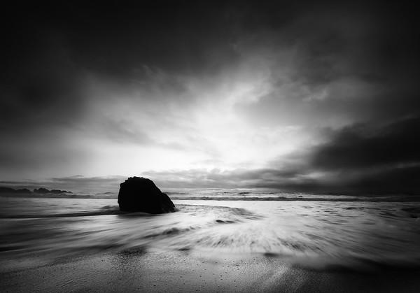 The Edge of the Day at Garrapata Beach