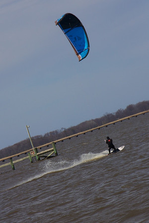 Kite Surfing on the Bay