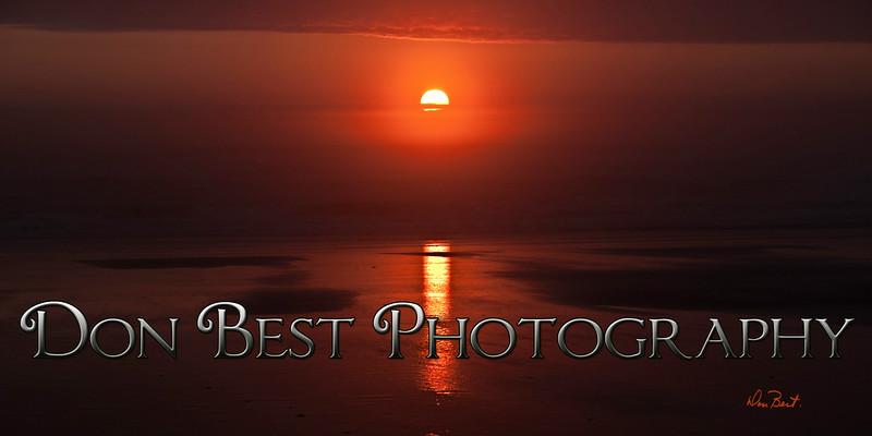 Foggy Rockaway Beach Sunset # 6266