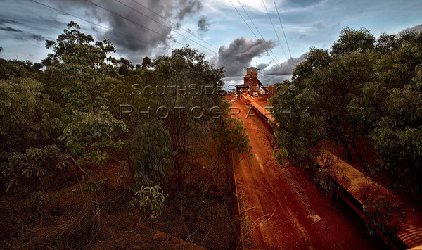 The Rio Tinto Alcan Bauxite mine at Yirrkala, provides a place of work for many of the local and transient labour force that reside in Gove. The mine boasts an impressive 26 km conveyor belt which moves 3000 tonne's of bauxite ore per hour,  from the mine to the refinery. There is some speculation on the future of the refinery and therefore its impact on the Gove community in general.