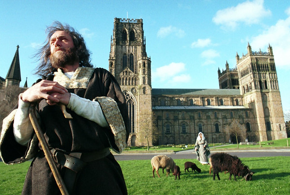Durham cathedral sheep