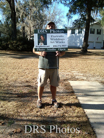 Dave and his new yard sign