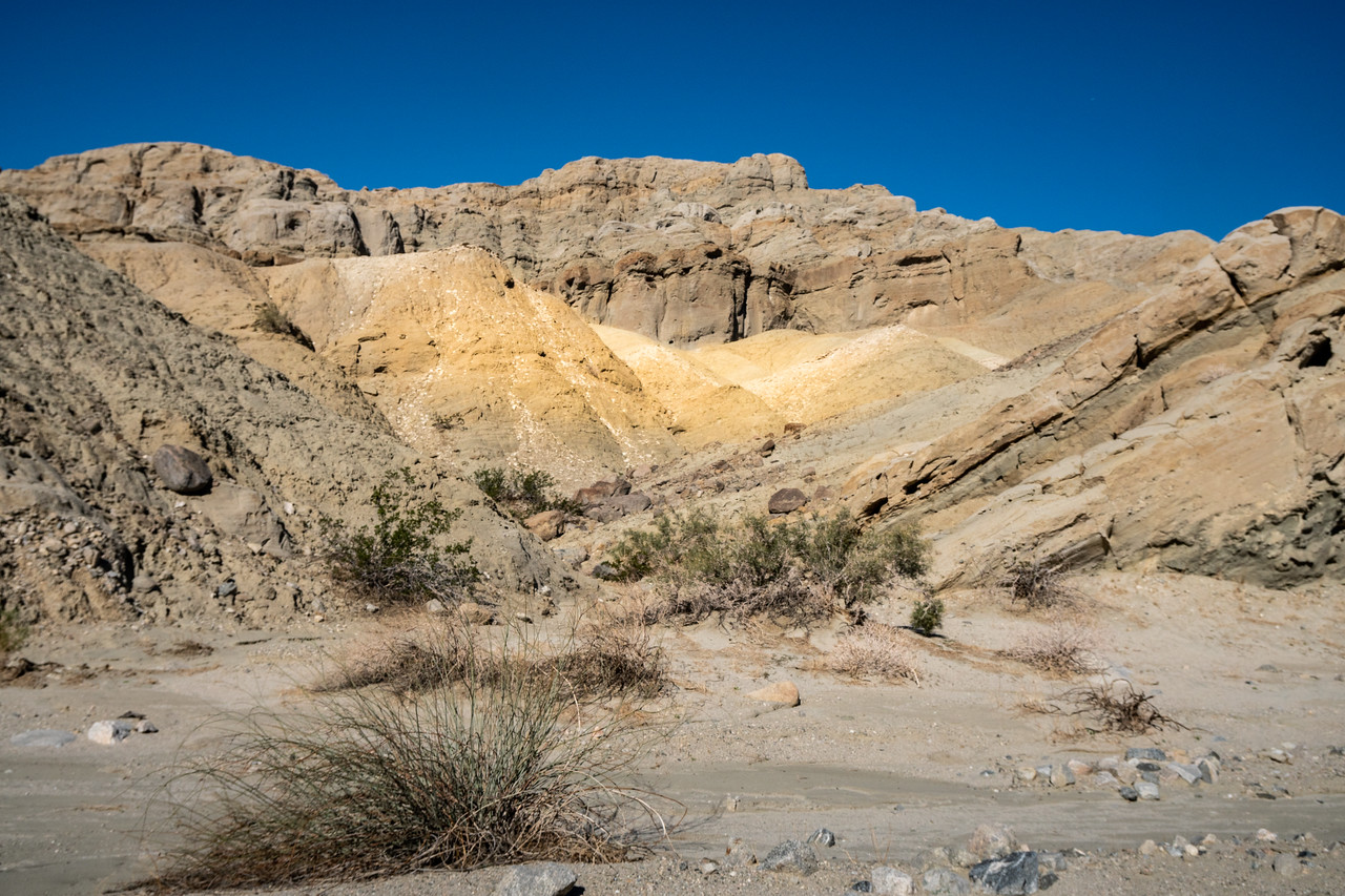 San Andreas Fault and hills containing shale