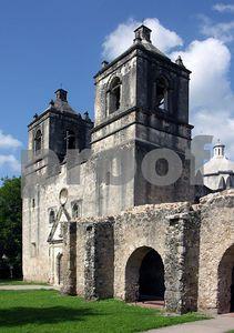 Mission Concepcion's two towers (San Antonio, Texas)