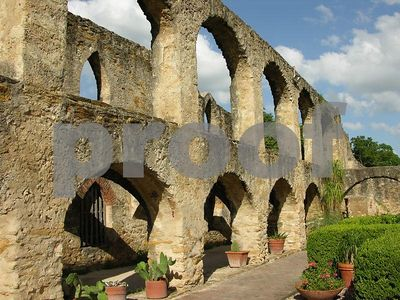 Arched wall at Mission San Jose (San Antonio, Texas)