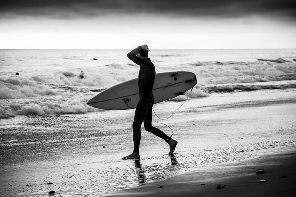 California Surfer Silhouette