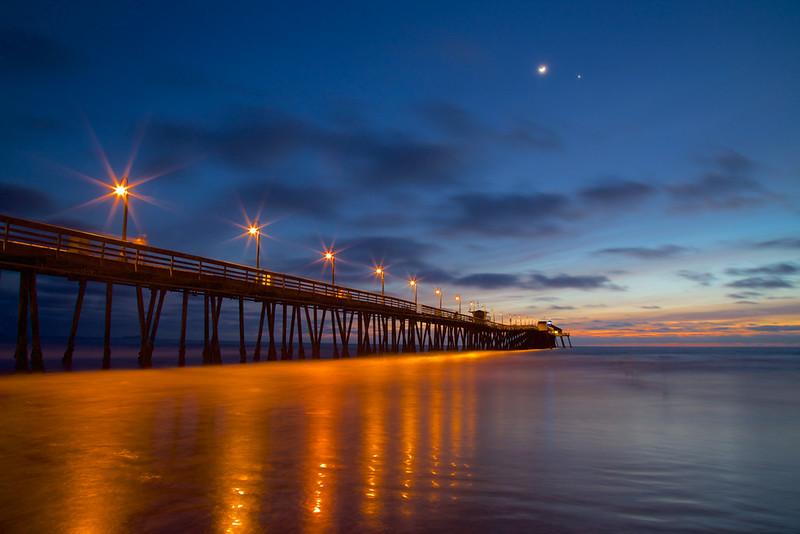Imperial Beach Pier at Dusk