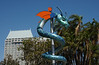 Dragon sculpture along San Diego Harbor