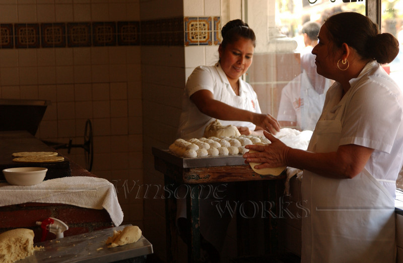 Tortilla making in San Diego Old Town