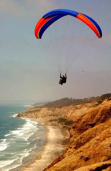 Paraglider over Torrey Pines, CA