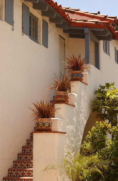 Traditional stairway in San Diego Old Town