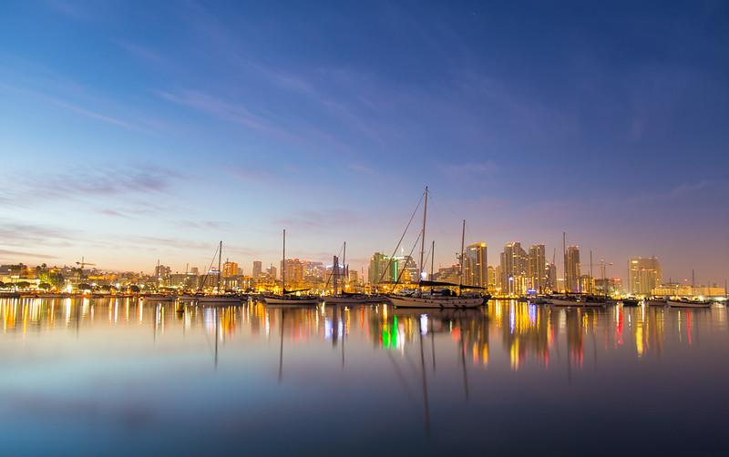 Dawn over San Diego Harbor