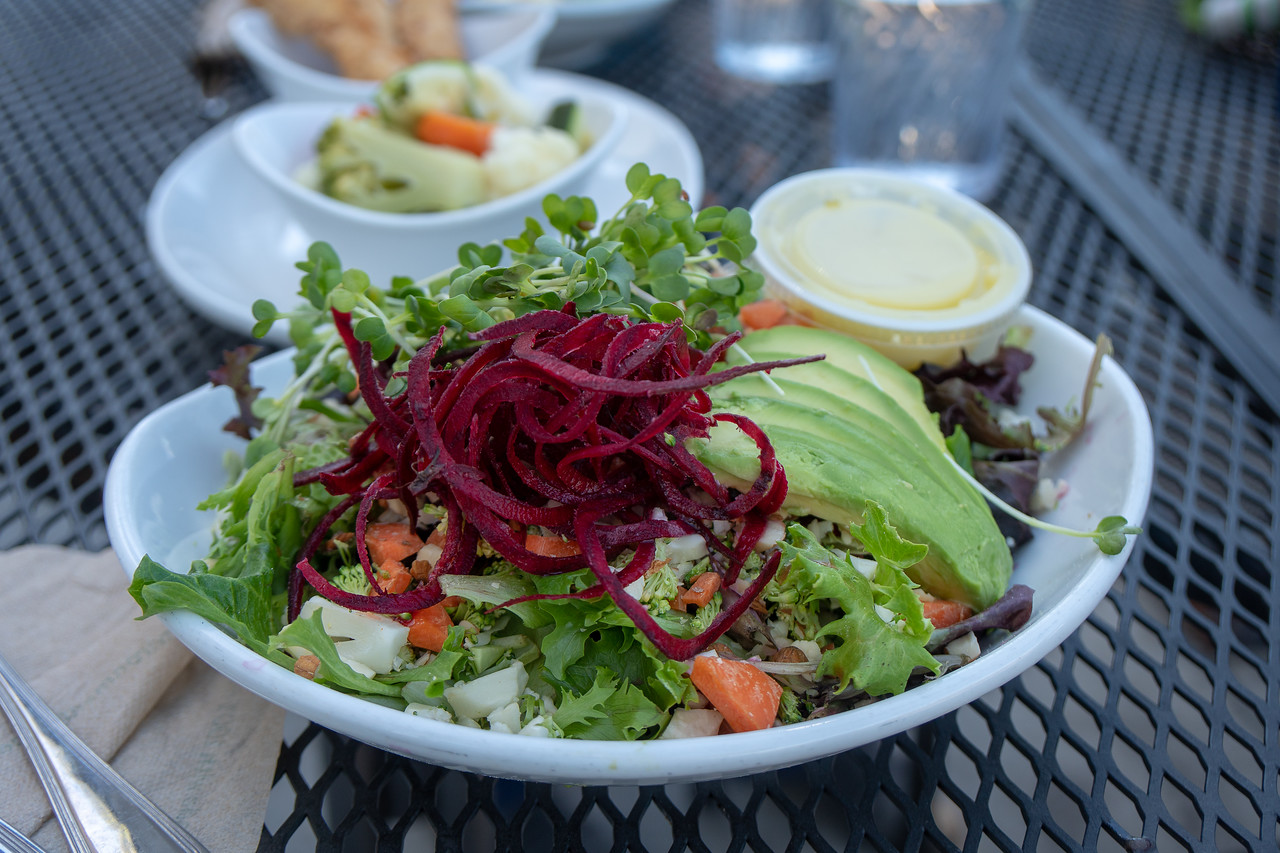 Salad lunch at Native Foods