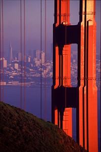 Golden Gate Bridge with downtown San Franscisco