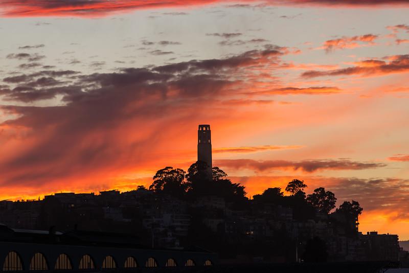 Coit Tower Sunset