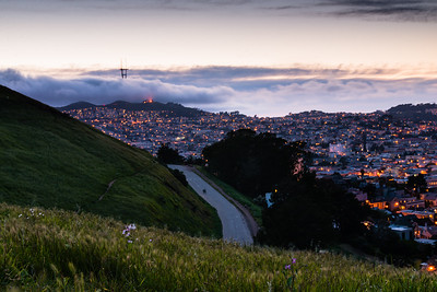 Twin Peaks from Bernal Heights