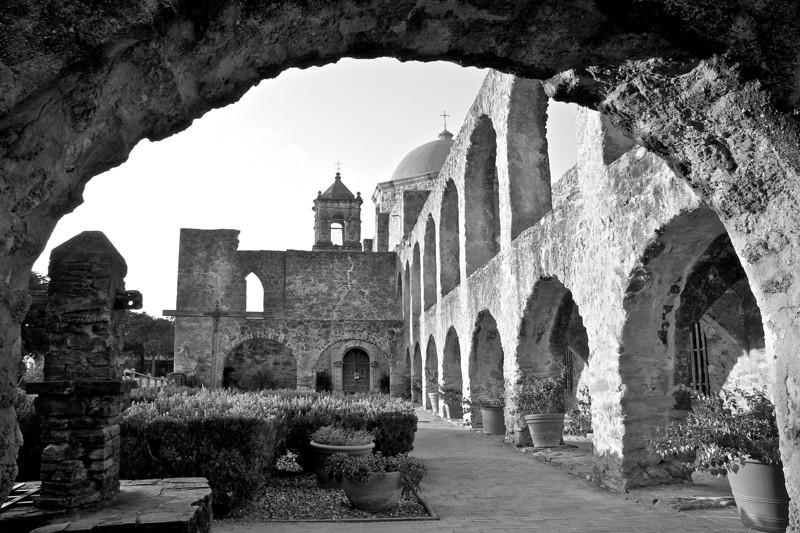 Mission San Jose through Arch - San Antonio, Texas