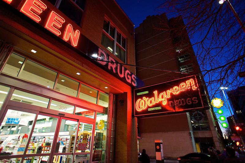Walgreen Neon, Blue Hour - San Antonio, Texas