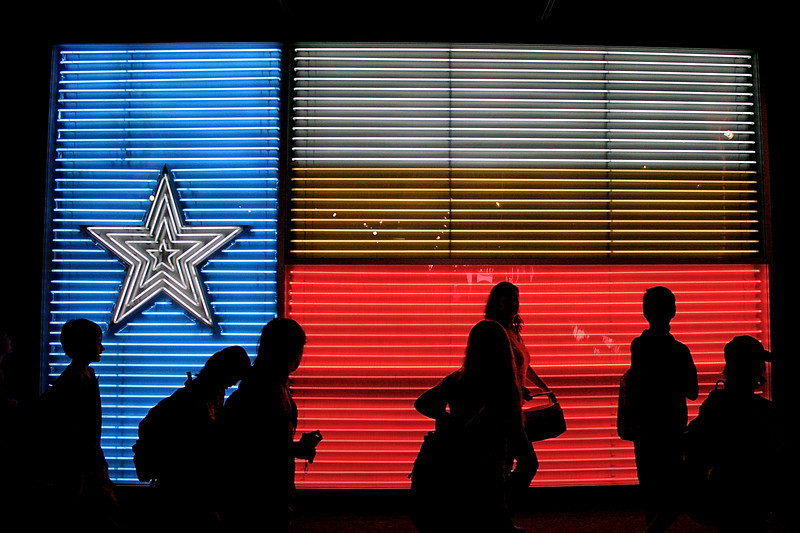 Neon Texas Flag, Institute of Texan Cultures - San Antonio, Texas