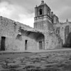 Mission Concepcion Courtyard Detail - San Antonio, Texas