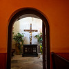 Crucifix Through Doorway - Mission Concepcion - San Antonio, Texas