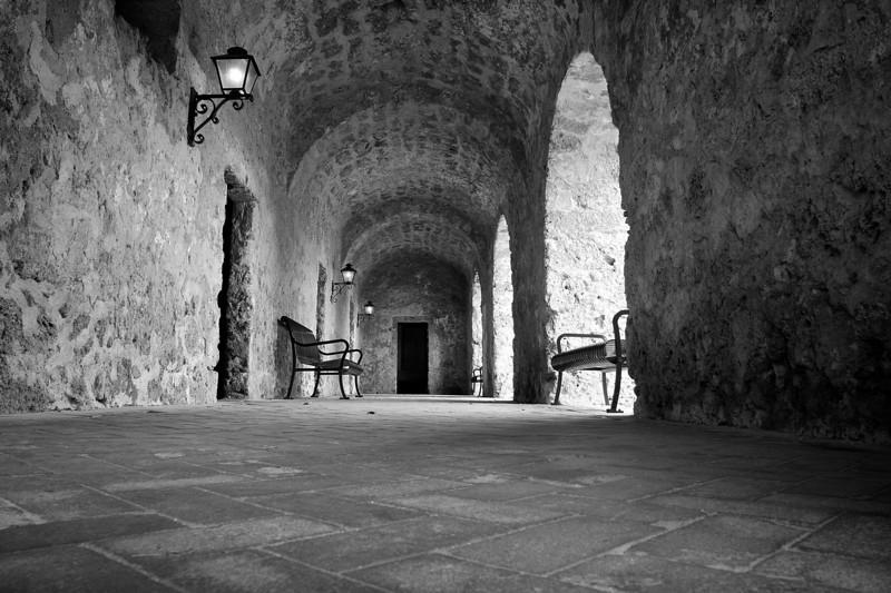 Mission Concepcion Exterior Hallway - San Antonio, Texas