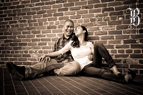 San Diego Engagement Photography. San Diego Gas Lamp Quarter