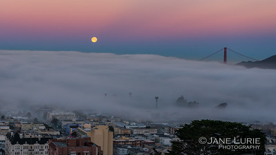 Moonset and Fog, SF