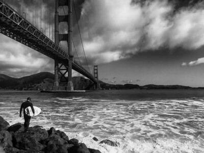 Surfer and Bridge