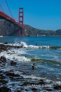 Surfer Waits, Golden Gate
