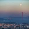Moonset at Sunrise, Golden Gate