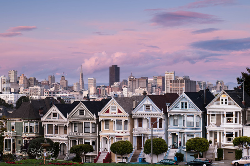 Alamo Square in blush - San Francisco, CA