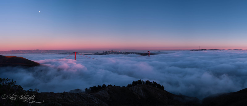 Pink Evening Fog - San Francisco, CA