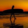 Surfer at Sunset.