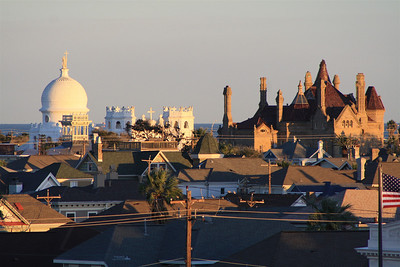Galveston Roof Tops. Galveston Island, Texas