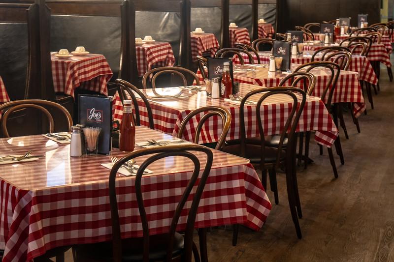Tables at Joe's Cafe