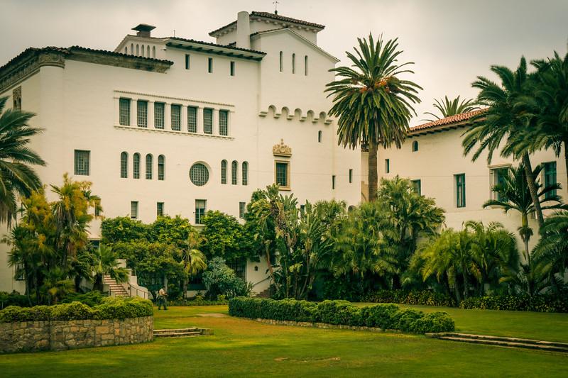 Sunken garden within Santa Barbara County Courthouse complex