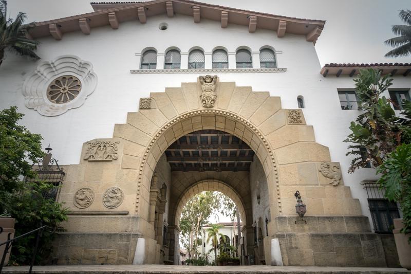 Entrance to the Santa Barbara County Courthouse